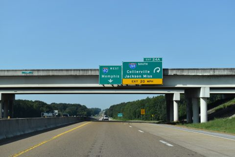 I-40 west at I-269/SR 385 - Arlington, TN
