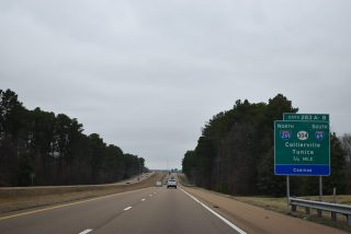 I-55 north at I-69/269 - Hernando, MS