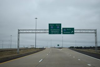 I-69 north at I-55/269 - Hernando, MS