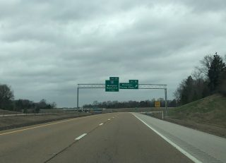 I-269 north at I-40/SR 385 - Arlington, TN