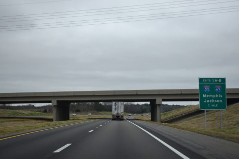 I-269 south at I-55/69 - Hernando, MS
