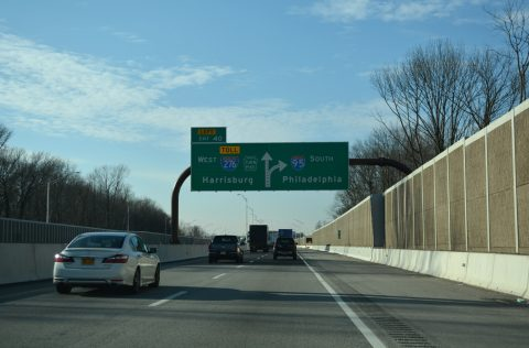I-95 west at I-276/PA Turnpike - Levittown
