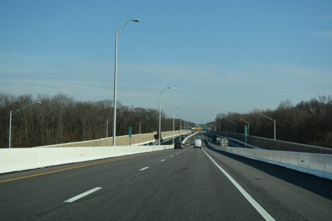 I-276/PA Turnpike east at I-95 - Levittown