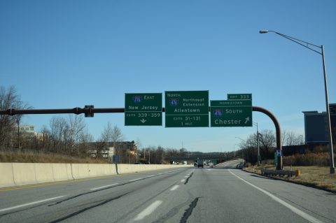 I-276 east at I-476 - Plymouth Meeting, PA