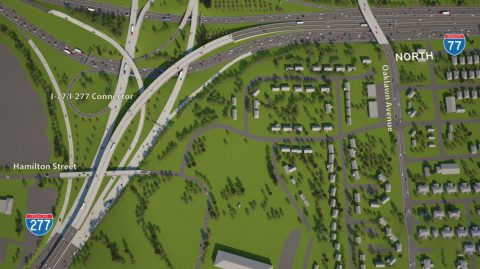 I-77/277 Connector Rendering - Charlotte, NC