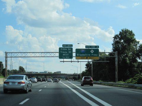 I-77/US 21 south at I-277/NC 16 - 2013