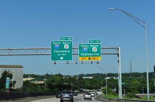 I-277/US 74-NC 27 west at I-77 - Charlotte, NC