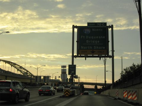 I-376/US 22-30 west at I-279 - Pittsburgh, PA