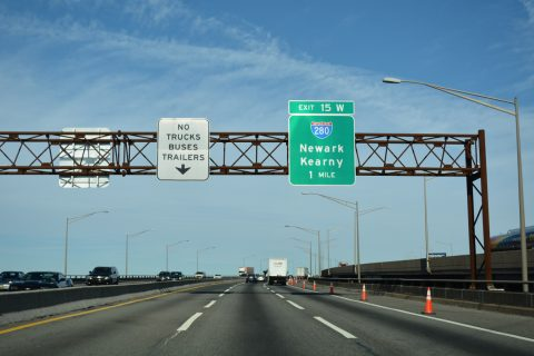 I-95/NJ Tpk north at I-280 - Newark, NJ