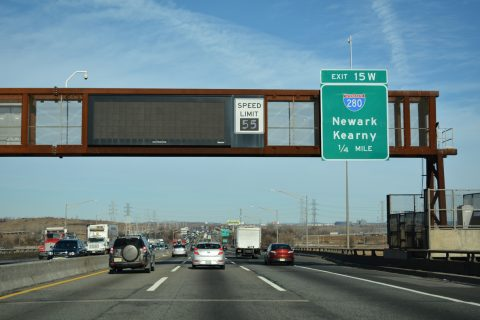 I-95/NJ Tpk north at I-280 - Kearny, NJ