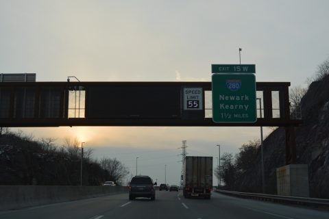 I-95/NJ Tpk south at I-280 - Secaucus, NJ
