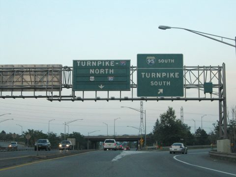 I-280 east at I-95/NJ Tpk - Kearny, NJ