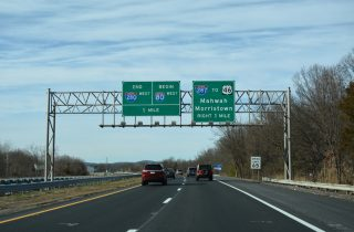 I-280 west at I-80/287 - Parsippany-Troy Hills Twp, NJ