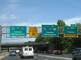 I-76/295 north split - Bellmawr, NJ