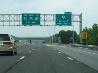 I-95 north at Route 31 - Ewing Twp, NJ