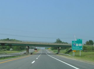 I-95/Maine Tpk north at Route 9 - West Gardiner