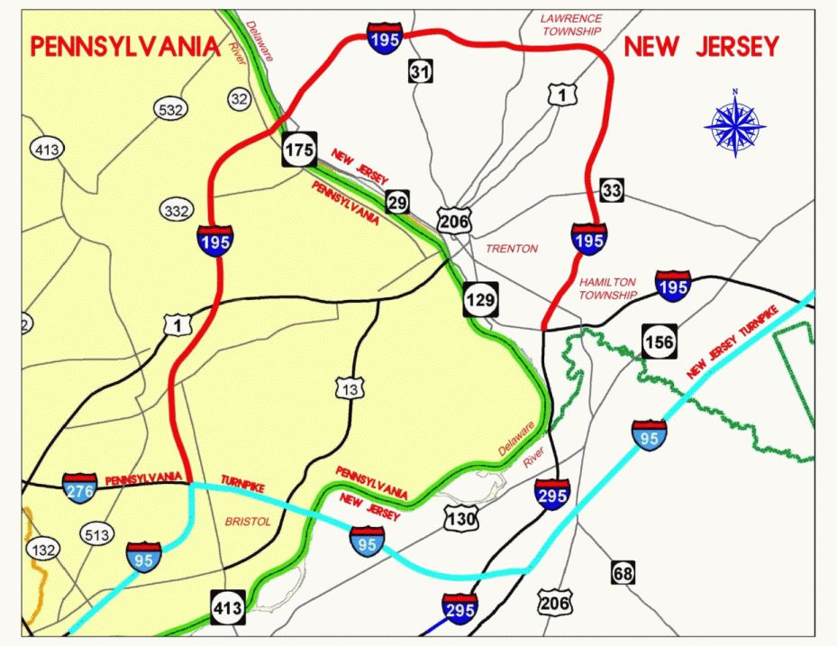 Interstate 295 - Delaware Valley - Interstate-Guide.com on interstate 495 map, us interstate highway system, i-355 map, new jersey turnpike, interstate 25 map, i-64 map, interstate 93 map, richmond hill ga map, i-90 map, interstate 81 map, i-294 map, interstate 91 map, pennsylvania turnpike, i-40 map, i-81 map, i-69 map, interstate 10 map, u.s. route 66, i-5 map, interstate 75 map, interstate 77 map, garden state parkway map, i-77 map, i-55 map, u.s. route 1,