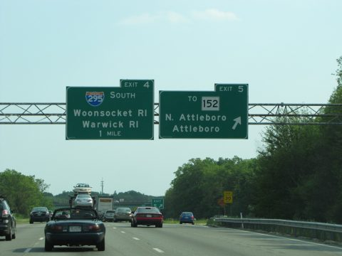 I-95 south at I-295 - Attleboro, MA