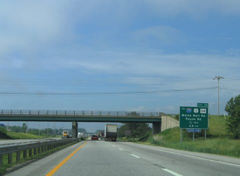 I-95/Maine Tpk south at Route 703 - South Portland