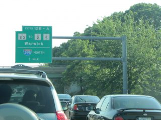 I-95 south at RI 113/I-295 - Warwick
