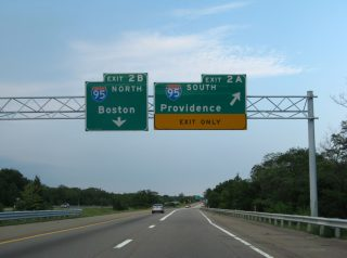I-295 north at I-95 - Attleboro, MA