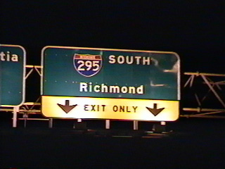 I-295 south at DC 295 - 1995