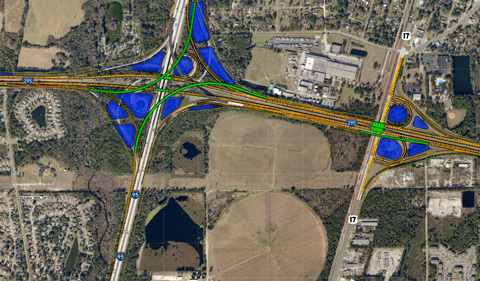 I-95/I-295 North Interchange Reconfiguration project map