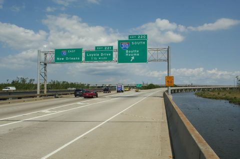 I-10 east at I-310 - St. Charles Parish, LA