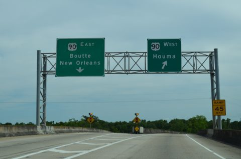I-310/LA 3127 south at US 90 - Boutte, LA