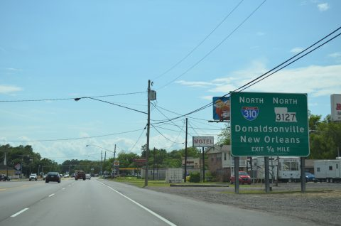 US 90 west at I-310/LA 3127 - Boutte
