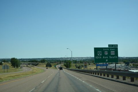 I-15 north at I-315/US 89/MT 3-200 - Great Falls