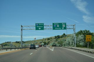 I-315/US 89/MT 3-200 west at I-15 - Great Falls