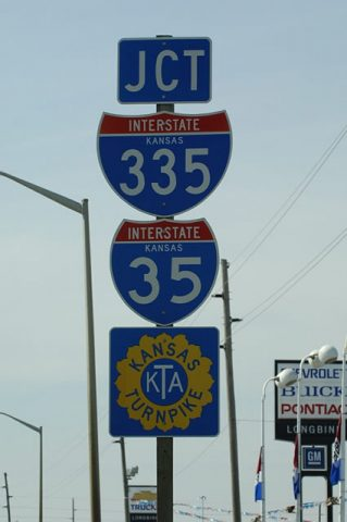 US 50 west at I-35/335 - 2005