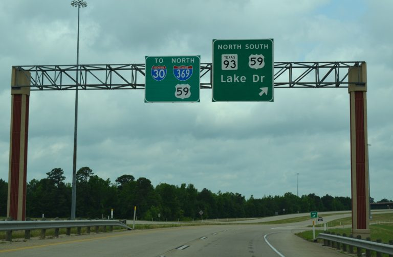 SL 151 west at IH 369/US 59/SH 93 - Texarkana, TX
