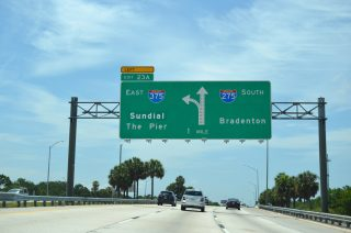 I-275 south at I-375 - St. Petersburg, FL