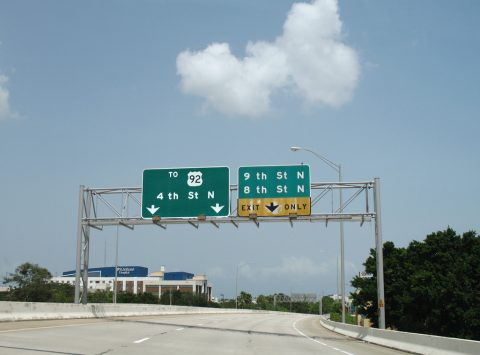 I-375 east at 9th/8th St N - St. Petersburg, FL
