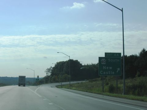 I-80 west at I-376/PA 760 - Shenango Twp