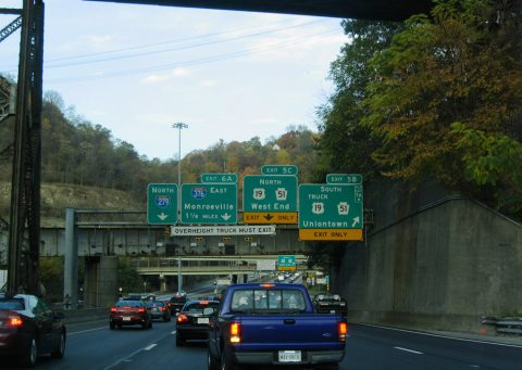 I-279 north at I-376/Penn Lincoln Pkwy East - 2004