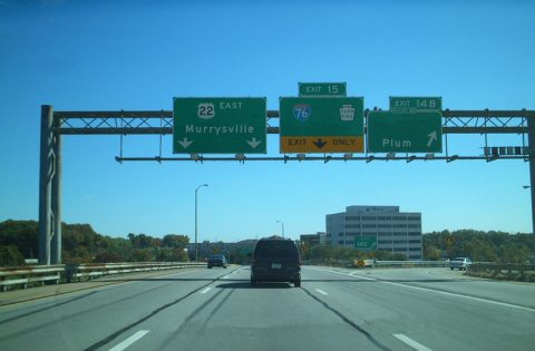 I-376/US 22 east at I-76/PA Tpk - 2001