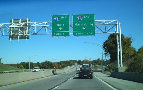I-376 east at I-76/PA Tpk - 2001