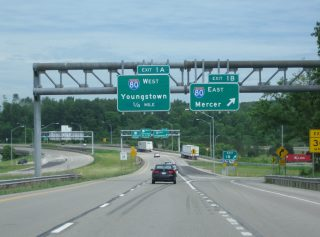 I-376 west at I-80 - Shenango Twp, PA
