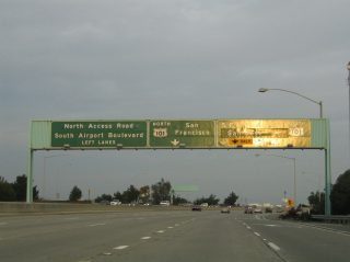 I-380 east at US 101 - 2004
