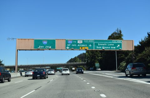 I-280 south at I-380 - San Bruno, CA