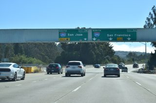 I-380 west at I-280 - San Bruno, CA