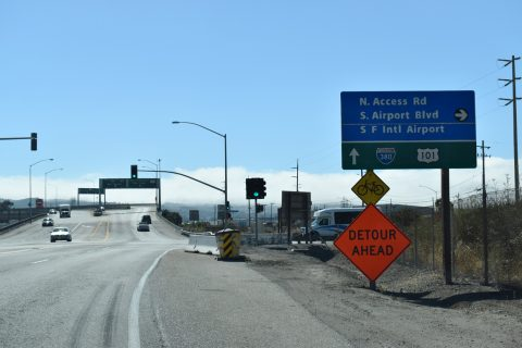 SFO N Access Rd at I-380