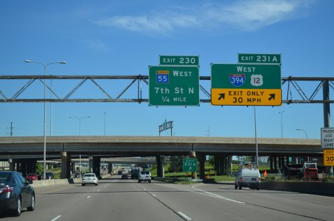 I-94/US 12-52 west at I-394 - Minneapolis, MN