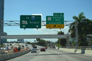 SR A1A/MacArthur Causeway west at I-395/US 1 - 2014