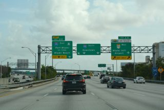 I-95 south at I-395/SR 836 - Miami, FL