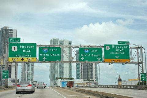 I-395 east at US 1/SR A1A - 2011
