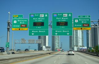 I-395 east at US 1/SR A1A - 2015
